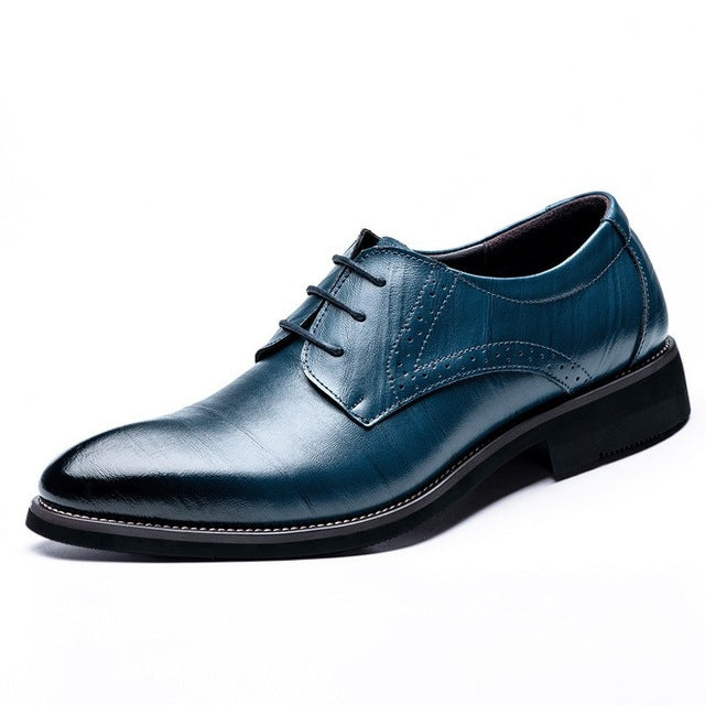 LS57 Big Size 37-48 Oxfords Leather Men Shoes