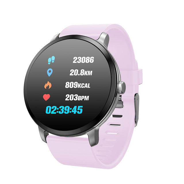 SW- V11 P67 Tempered Glass Fitness Smartwatch