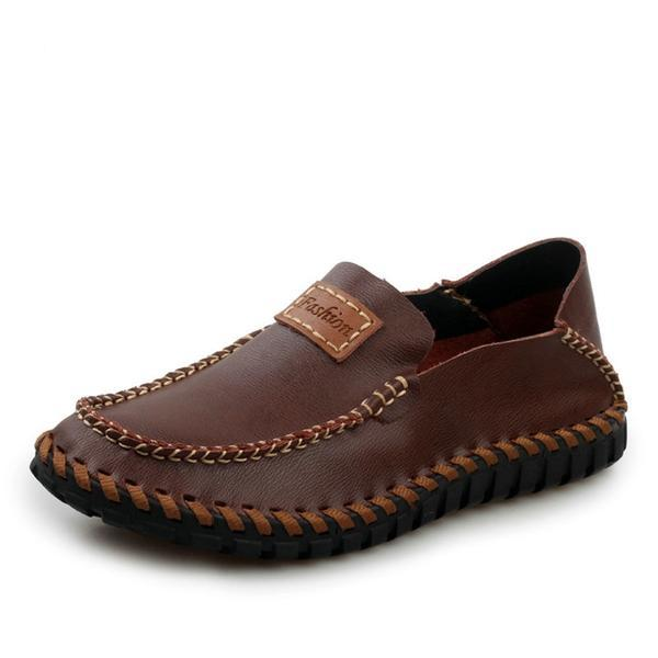 LS32 Handmade Genuine Leather Soft Moccasins Shoes