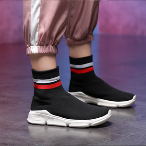 WS453 Plus Size 35-42 Women Sock Sneakers