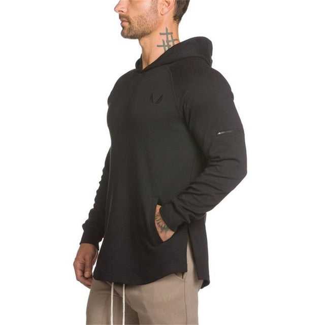 GYS02 Hoodies Gyms Side Zipper Sweatshirt