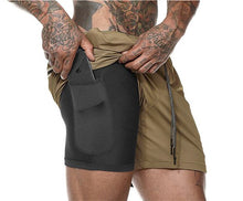Load image into Gallery viewer, GSS01 Double-Deck Gyms Joggers Shorts