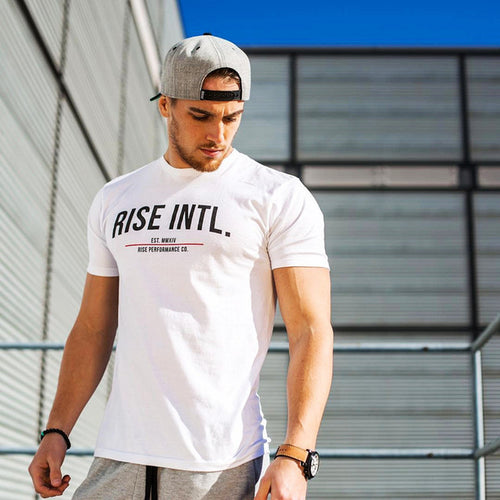 GS601 New Short Sleeve Cotton Gym T-Shirt