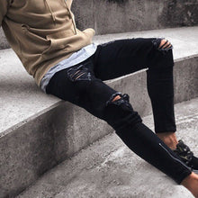 Load image into Gallery viewer, MD40 Zipper Ripped Jeans