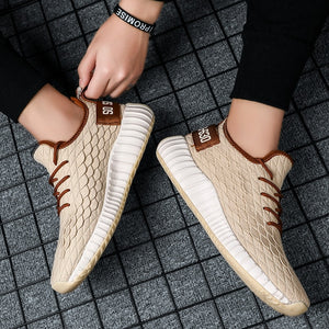 SS011 Elastic Knit Fly Weaving Sneakers