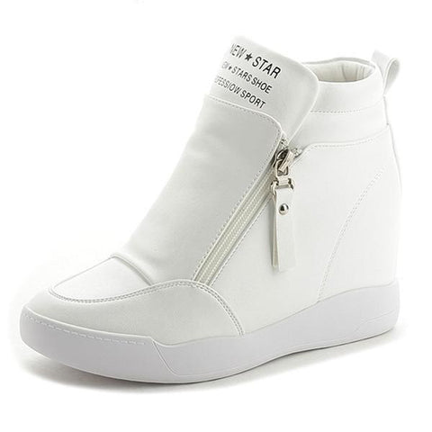 WB033 Women 10cm Wedge Ankle Boots  Big Size 33-42