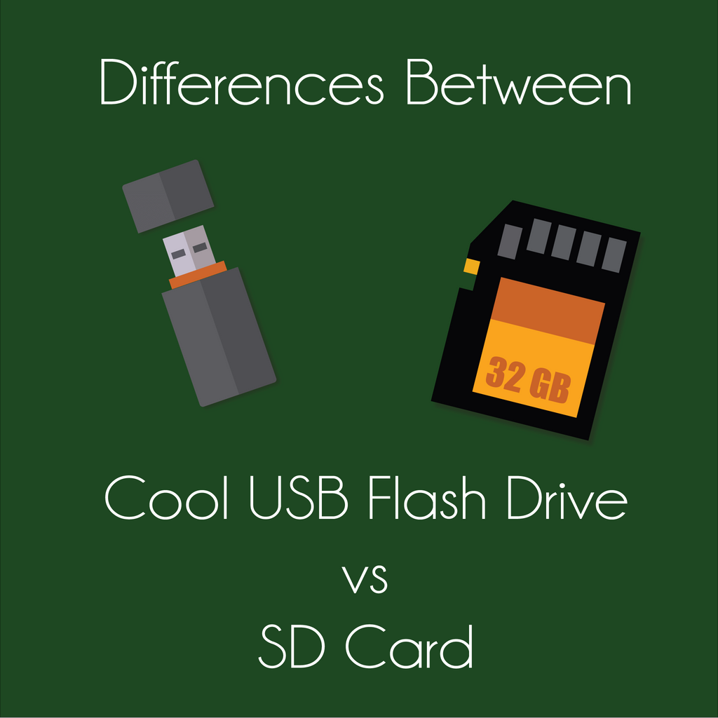 Differences between cool USB Flash Drive vs. SD Card