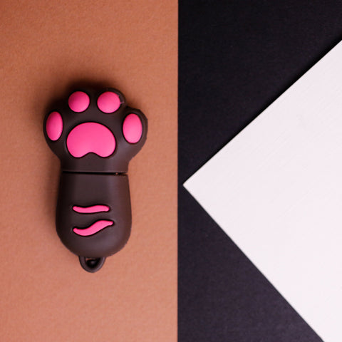 Pink Cat's Paw USB Flash Drive