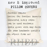 Initial Letter Modern Farmhouse Pillow Cover
