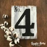 Single Digit Number Sign | No. Sign | Rustic Wood Sign | Farmhouse Sign | 10x12