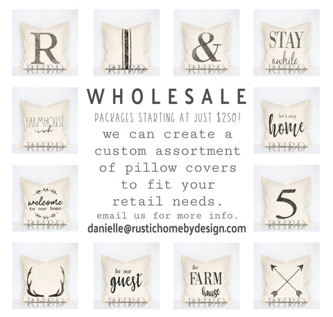 WHOLESALE FARMHOUSE PILLOW COVERS | HANDMADE IN USA | SUPPORT SMALL BUSINESS