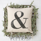 Ampersand Modern Farmhouse Pillow Cover