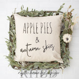 Apple Pies and Autumn Skies Modern Farmhouse Pillow Cover