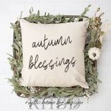 Autumn Blessings Modern Farmhouse Pillow Cover