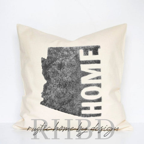 Customizable Home State Modern Farmhouse Pillow Cover