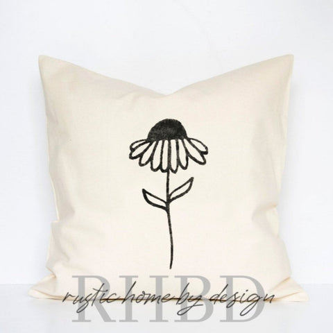 Daisy Modern Farmhouse Pillow Cover