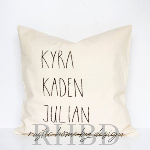 Personalized Names Rae Dunn Style Font Modern Farmhouse Pillow Cover