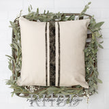 Large Ticking Stripe Modern Farmhouse Pillow Cover