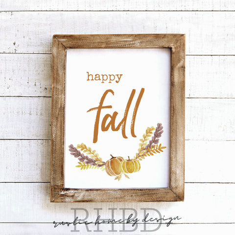 Happy Fall Watercolor | Modern Farmhouse Print | Instant Download Print | Printable Farmhouse Art