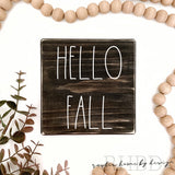 Hello Fall | Rae Dunn Inspired | Tiered Tray Sign | Fall Autumn Mini Sign