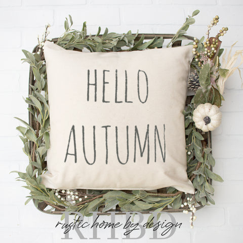 HELLO AUTUMN Modern Farmhouse Pillow Cover