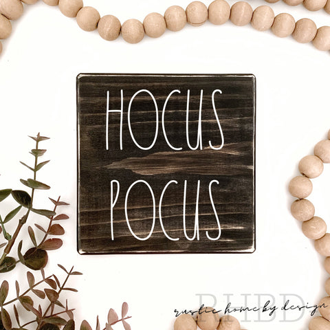 Hocus Pocus | Rae Dunn Inspired | Fall Tiered Tray Sign | Halloween Mini Sign