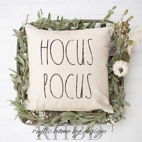 HOCUS POCUS Modern Farmhouse Pillow Cover