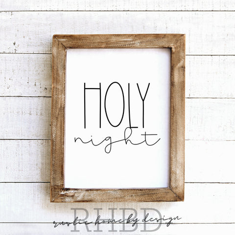 Holy Night | Modern Farmhouse Print | Instant Download Print | Printable Farmhouse Art