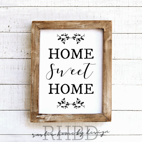 Home Sweet Home | Modern Farmhouse Print | Instant Download Print | Printable Farmhouse Art