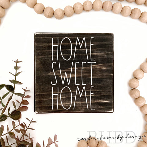 Home Sweet Home | Rae Dunn Inspired | Tiered Tray Sign | Everyday Mini Sign