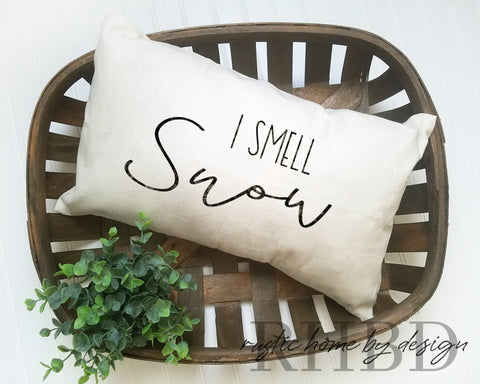 I Smell Snow Gilmore Girls Inspired Modern Farmhouse Lumbar Pillow Cover