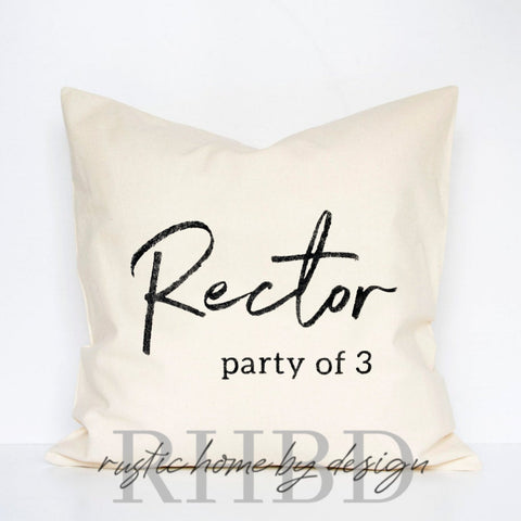 Customizable Family Party of ... Modern Farmhouse Pillow Cover