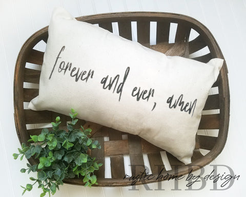 Forever and Ever Amen Modern Farmhouse Lumbar Pillow Cover