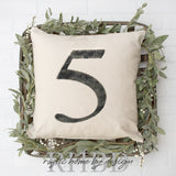 Number Modern Farmhouse Pillow Cover