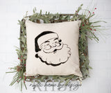 Santa Claus Modern Farmhouse Christmas Pillow Cover