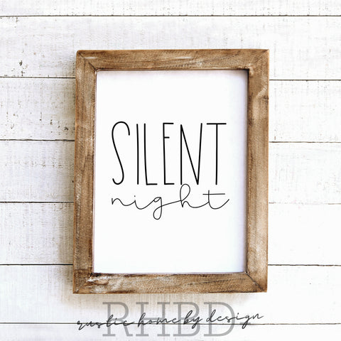 Silent Night | Modern Farmhouse Print | Instant Download Print | Printable Farmhouse Art