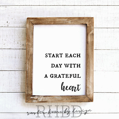 Start Each Day With A Grateful Heart | Modern Farmhouse Print | Instant Download Print | Printable Farmhouse Art