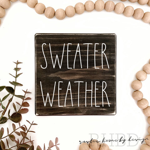 Sweater Weather | Rae Dunn Inspired | Fall Tiered Tray Sign | Winter Mini Sign