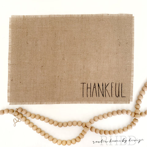 Natural Burlap Placemats | Thanksgiving Table Decor | Rae Dunn Inspired