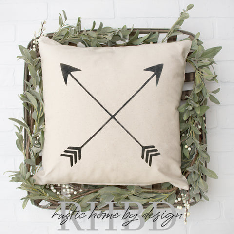 Crossed Arrows Modern Farmhouse Pillow Cover
