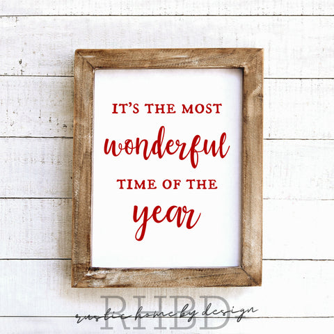 It's The Most Wonderful Time Of The Year | Modern Farmhouse Print | Instant Download Print | Printable Farmhouse Art
