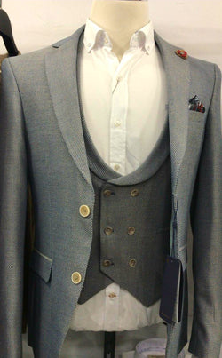 European style grey Blazer and Waistcoast