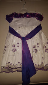 Very Cute White and Purple Princess Dress