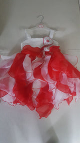 White and Red Princess dress