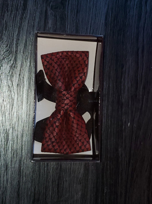 Your Unique Red and Black BowTie