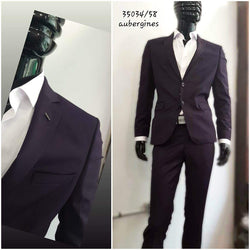 Burgundy Slim Fit 2 pieces Suits