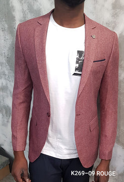 Nice Pink Summer Slim Fit Blazer