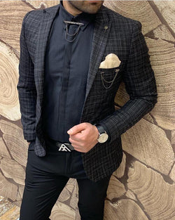 Mr Craig best european mixed checkered blazer