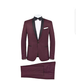 European Burgundy slim fit
