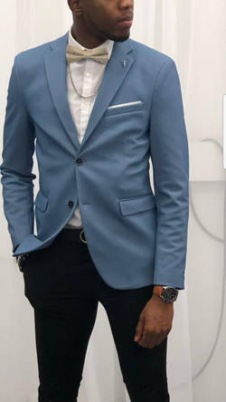 Perfect European Sky Blue Blazer